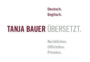 Tanja Bauer übersetzt.